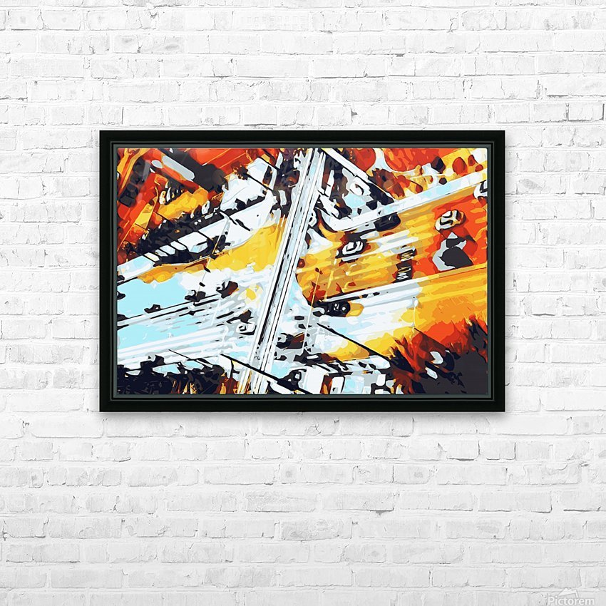 road in the city geometric abstract background HD Sublimation Metal print with Decorating Float Frame (BOX)