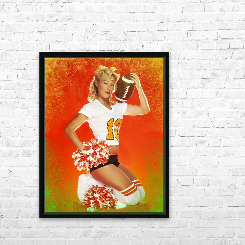 Lou Freeman©  Vintage Pin Up Girls 14622 HD Sublimation Metal print with Decorating Float Frame (BOX)