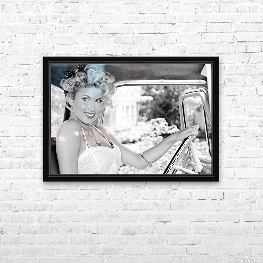 ©Lou Freeman Dark Glamour & Beauty Black & White    77 HD Sublimation Metal print with Decorating Float Frame (BOX)