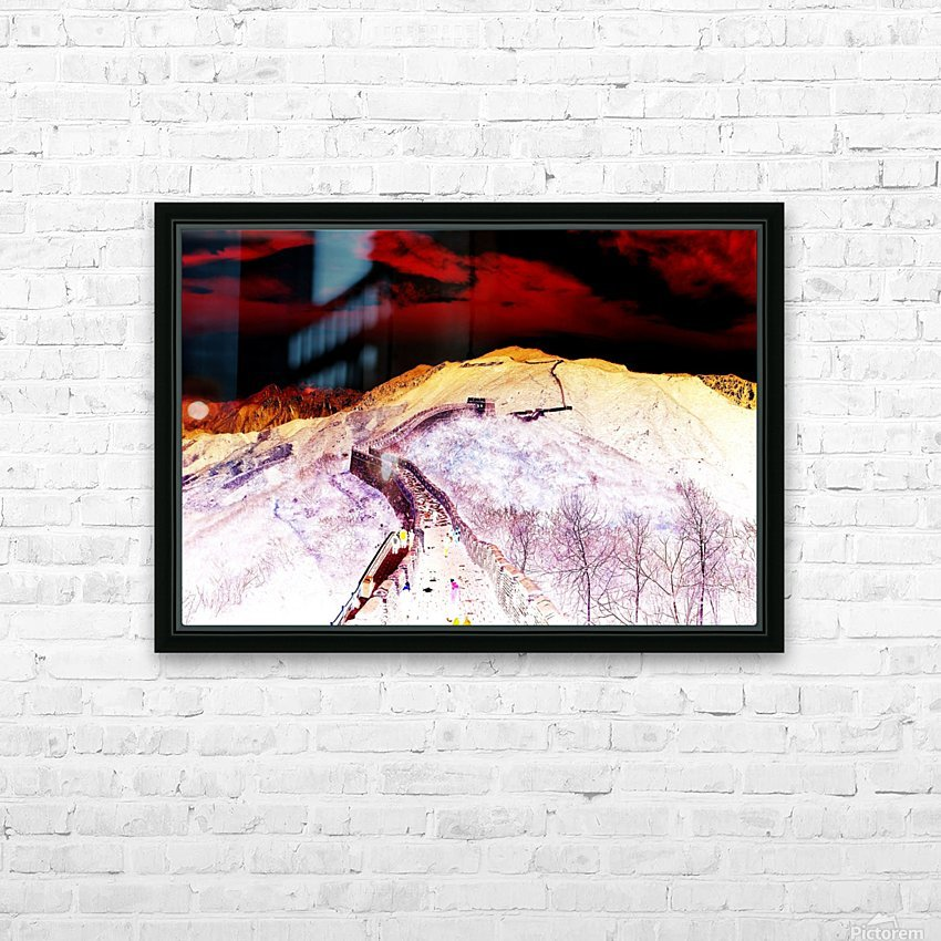 Great Wall HD Sublimation Metal print with Decorating Float Frame (BOX)