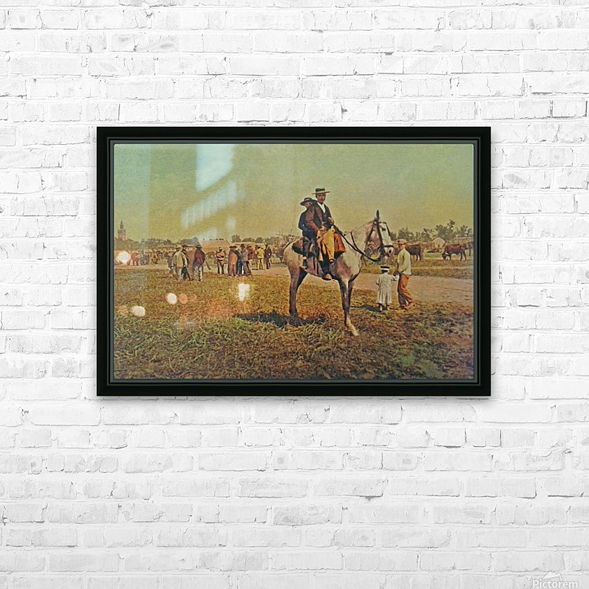 Visiting the fair HD Sublimation Metal print with Decorating Float Frame (BOX)