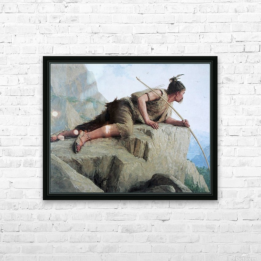 Der Pfahlbauer, 1886 HD Sublimation Metal print with Decorating Float Frame (BOX)