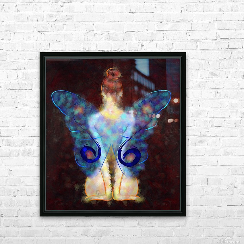 Elseminossa - butterfly beauty HD Sublimation Metal print with Decorating Float Frame (BOX)