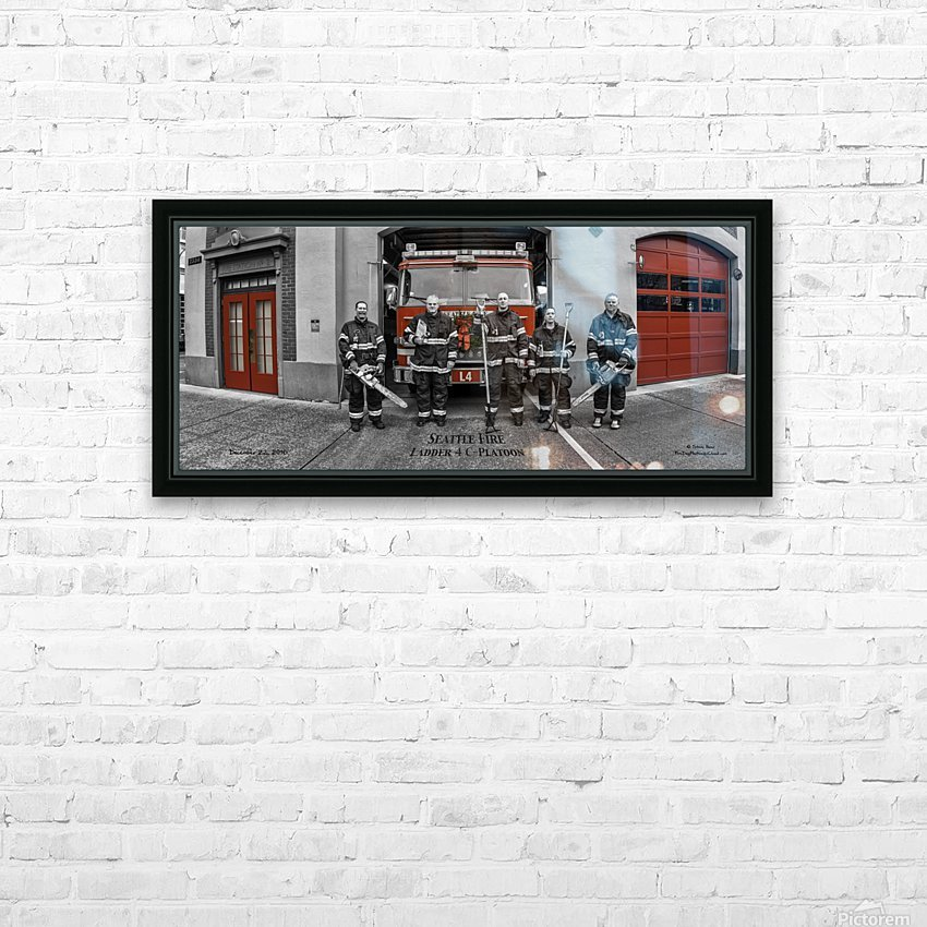 Seattle Fire Department Station 2, Ladder 4 C Colored Doors HD Sublimation Metal print with Decorating Float Frame (BOX)