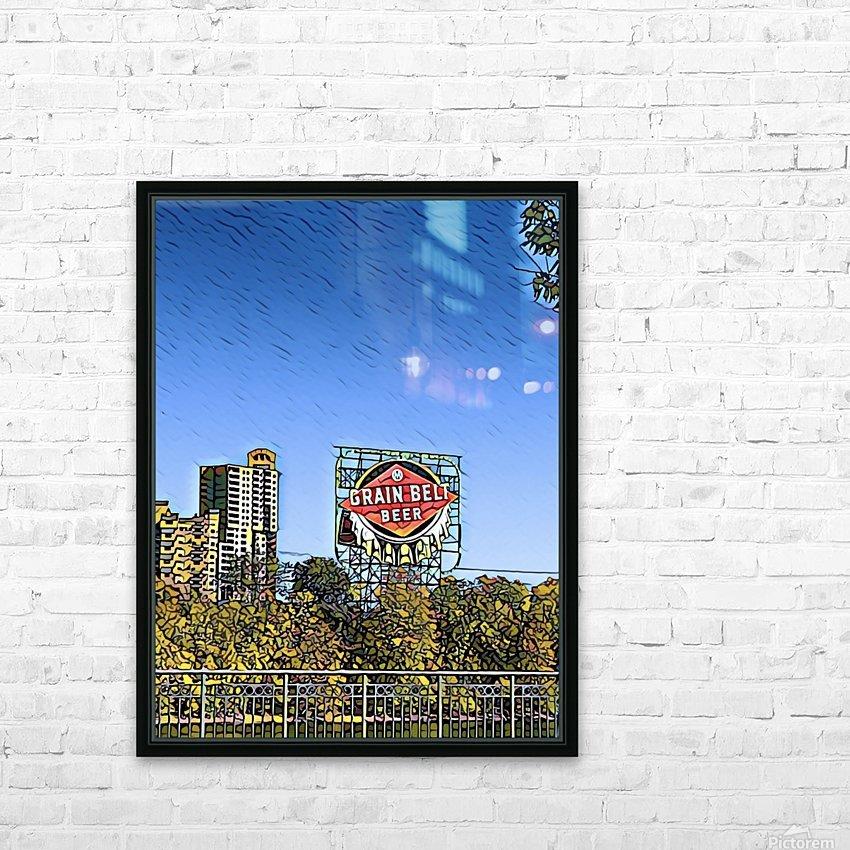 Grain Belt Beer HD Sublimation Metal print with Decorating Float Frame (BOX)