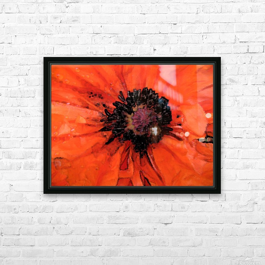 poppies will make you sleep HD Sublimation Metal print with Decorating Float Frame (BOX)