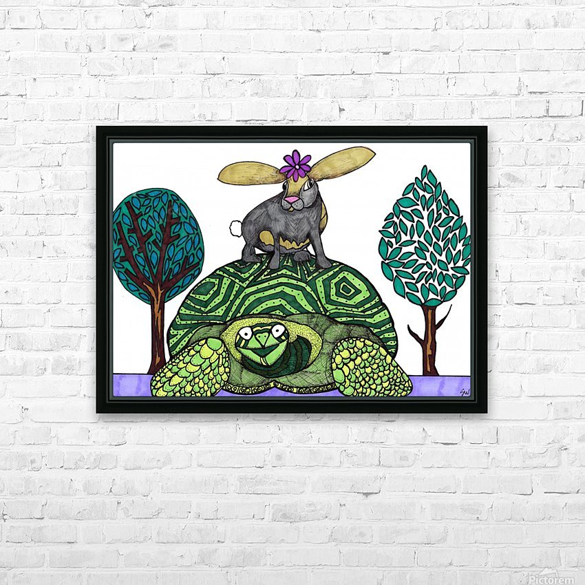 tortoise and hare HD Sublimation Metal print with Decorating Float Frame (BOX)