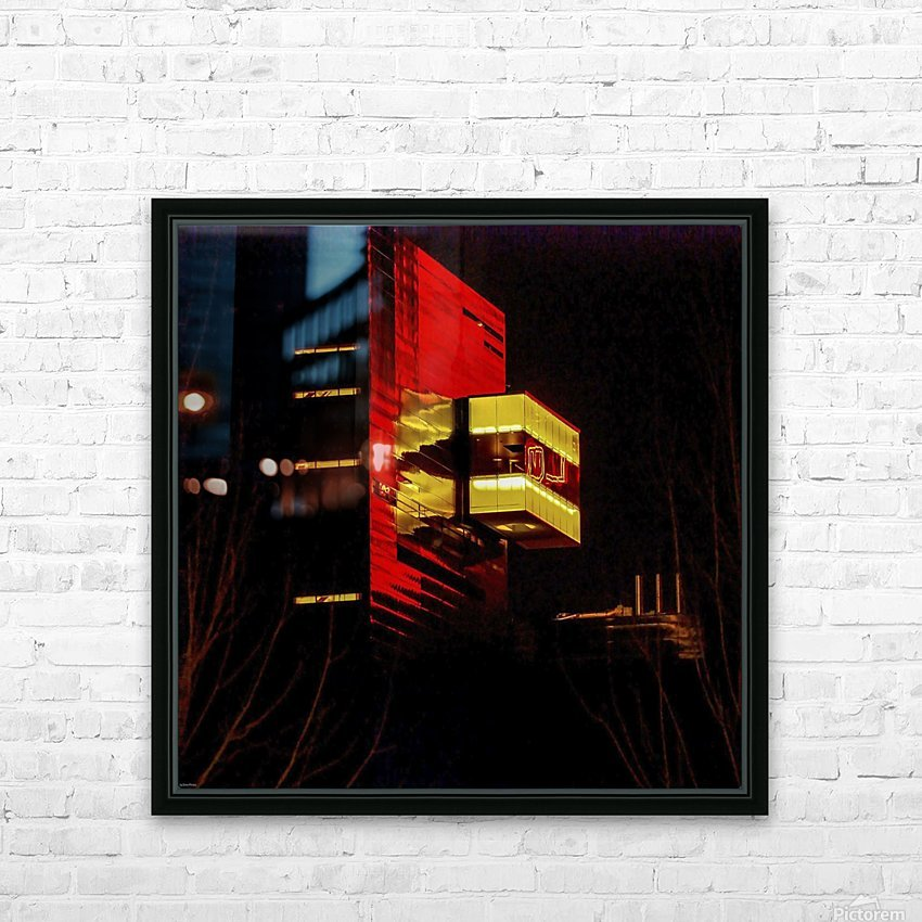 Night at the Guthrie HD Sublimation Metal print with Decorating Float Frame (BOX)