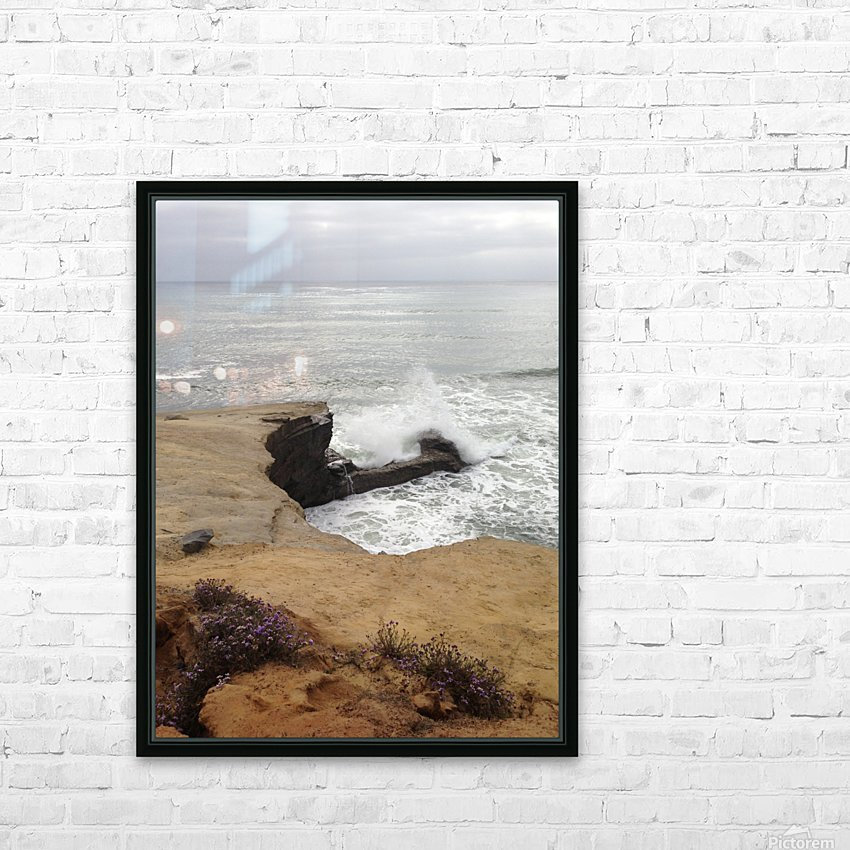 coastal wave HD Sublimation Metal print with Decorating Float Frame (BOX)