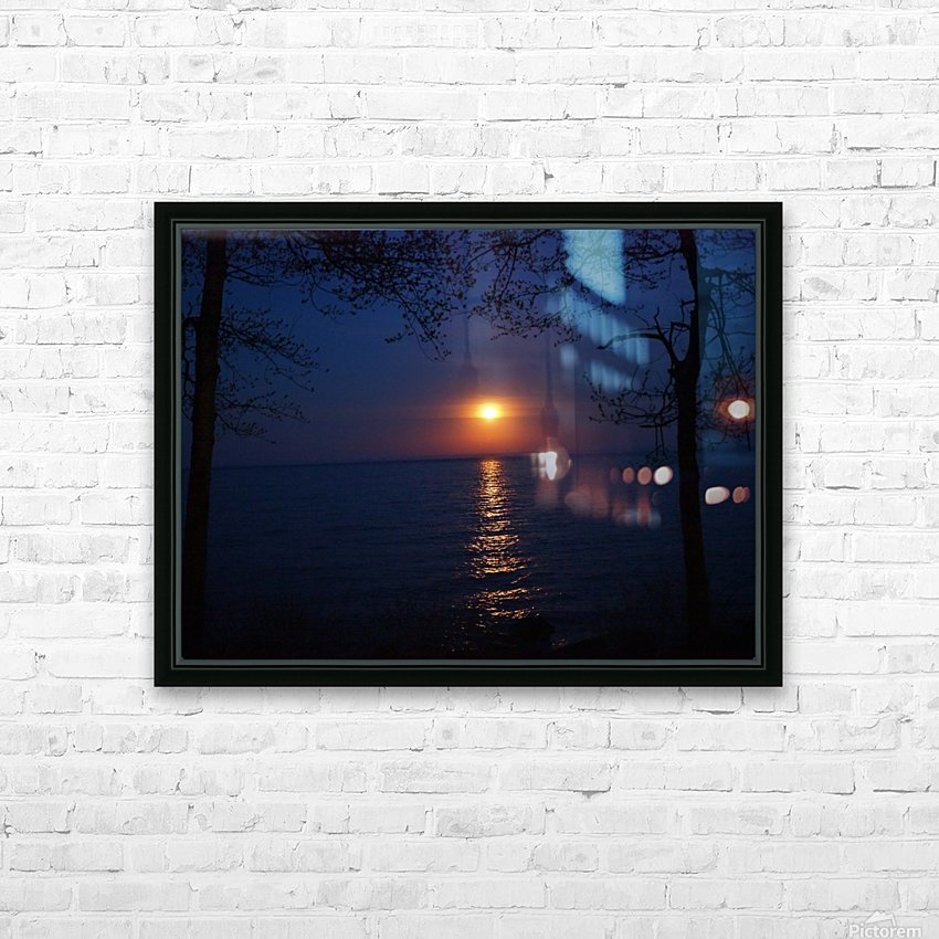 moon glow HD Sublimation Metal print with Decorating Float Frame (BOX)