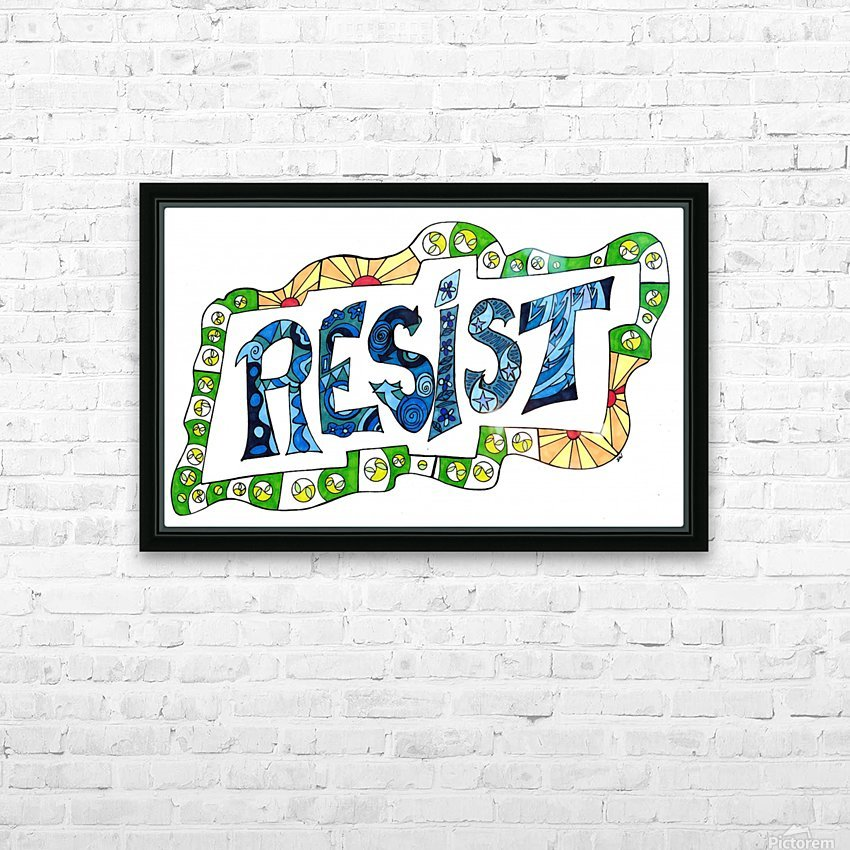 RESIST 3 HD Sublimation Metal print with Decorating Float Frame (BOX)