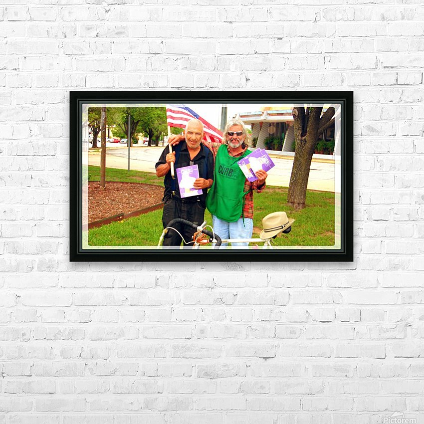 Homeless War Buddies HD Sublimation Metal print with Decorating Float Frame (BOX)