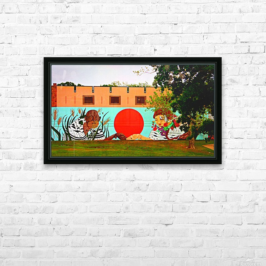 Beautiful Mural OKC HD Sublimation Metal print with Decorating Float Frame (BOX)