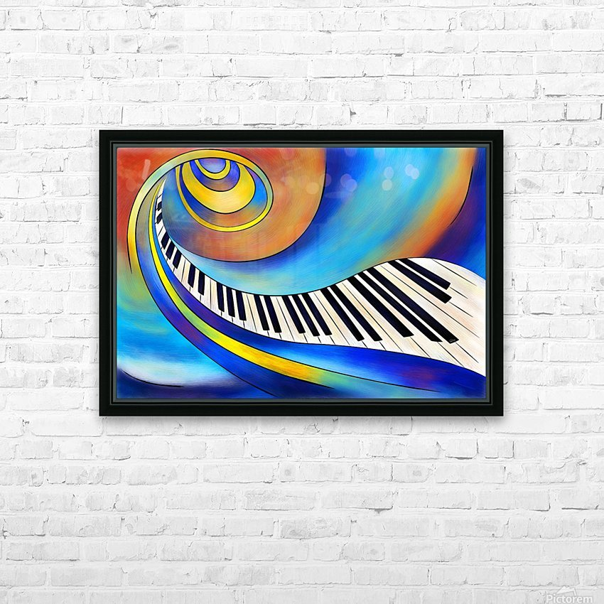 Redemessia - spiral piano HD Sublimation Metal print with Decorating Float Frame (BOX)