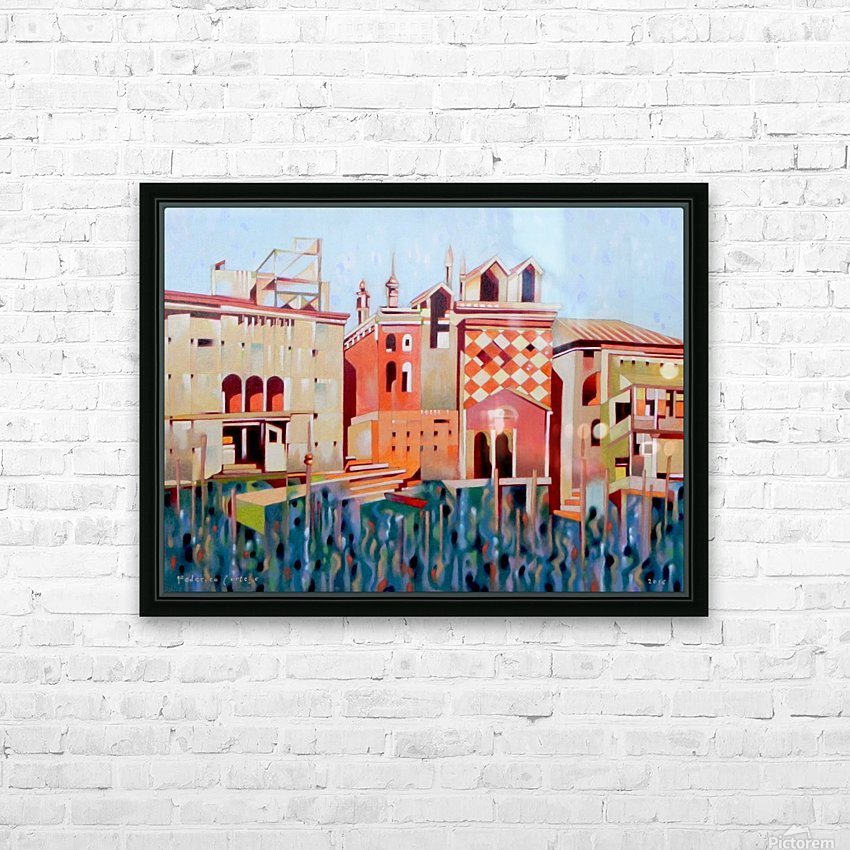 memory of Venice HD Sublimation Metal print with Decorating Float Frame (BOX)