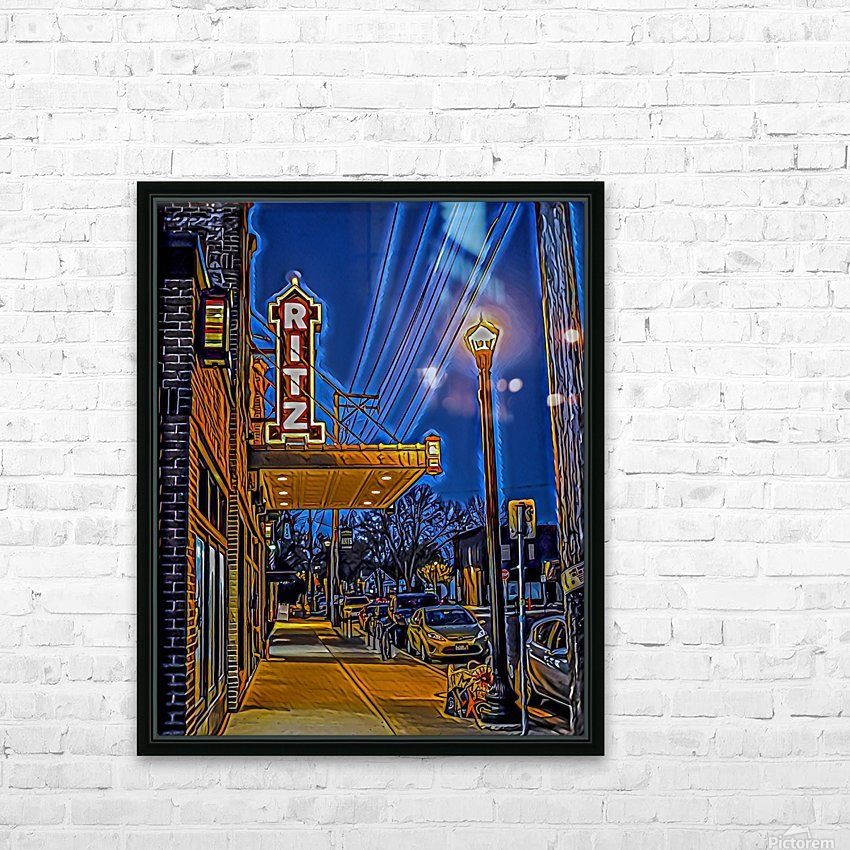 Puttin on the Ritz HD Sublimation Metal print with Decorating Float Frame (BOX)
