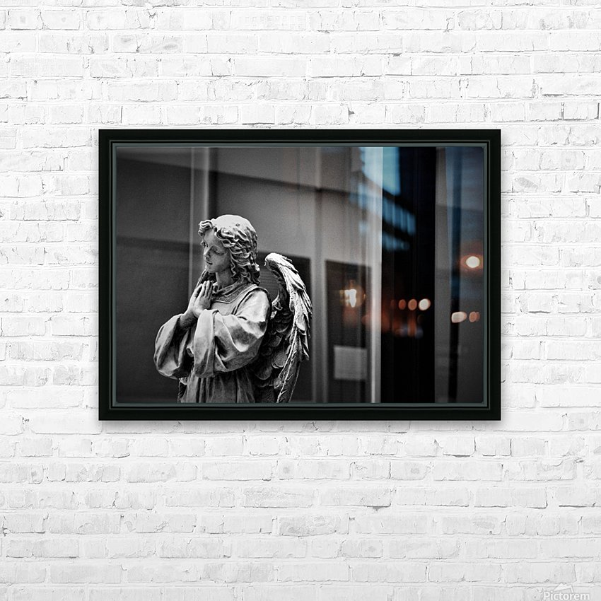 Angel in the Window HD Sublimation Metal print with Decorating Float Frame (BOX)