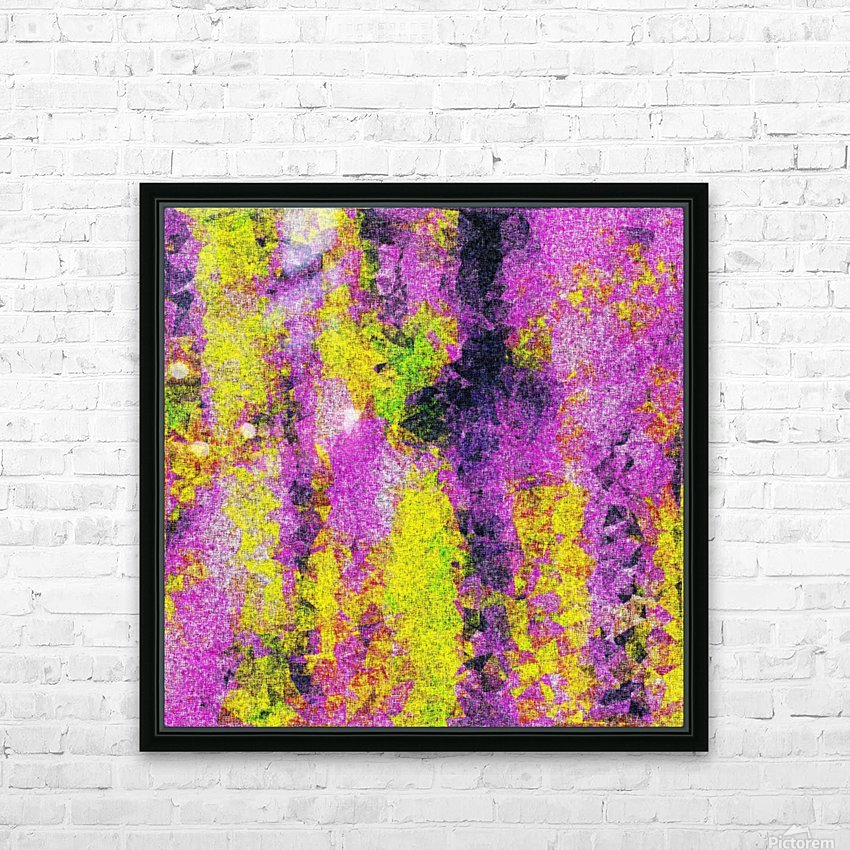 vintage psychedelic painting texture abstract in pink and yellow with noise and grain HD Sublimation Metal print with Decorating Float Frame (BOX)