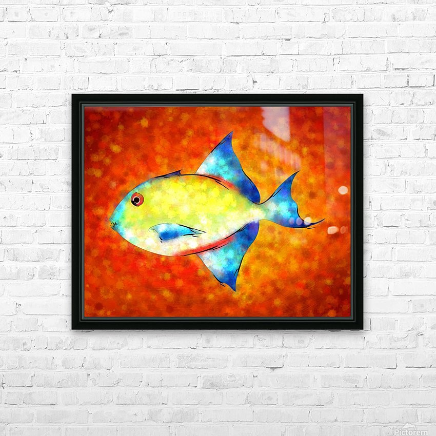 Esperimentoza - gorgeous fish HD Sublimation Metal print with Decorating Float Frame (BOX)