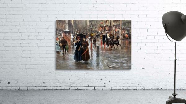 Naples via Toledo, with rain drops