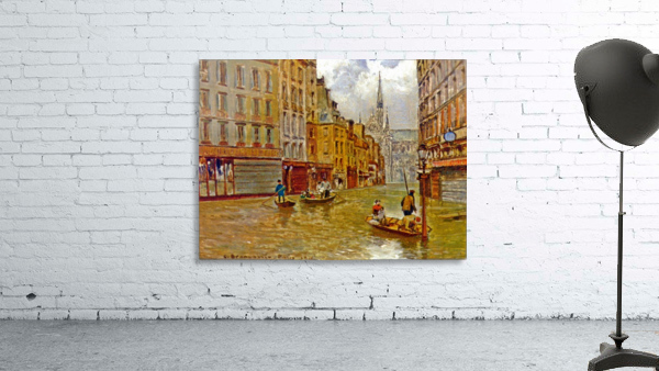 Street in Paris during Flood of 1910