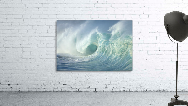 Huge Wave Curling, Crashing Side View Of Curl C1723