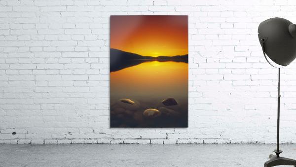 Reesor Lake At Sunset, Cypress Hills Interprovincial Park, Elkwater, Alberta, Canada