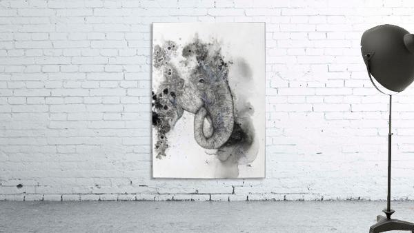 Illustration of an elephant's head
