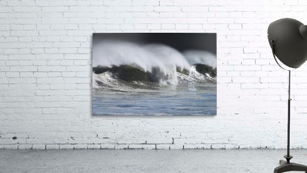 Waves Crashing On Mill Bay Beach Kodiak Island Southwest Alaska Autumn