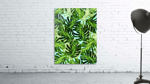 Watercolor leaves tropical I