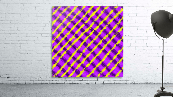 line pattern painting abstract background in purple and yellow