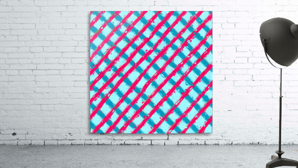 line pattern painting abstract background in blue and red