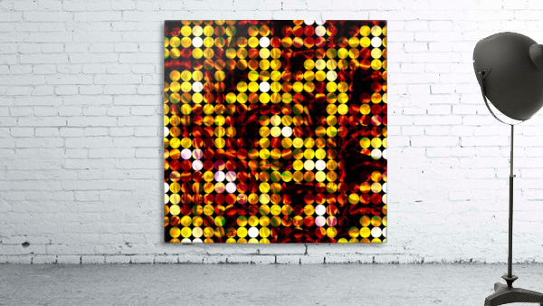 circle pattern abstract background with splash painting abstract in yellow red brown