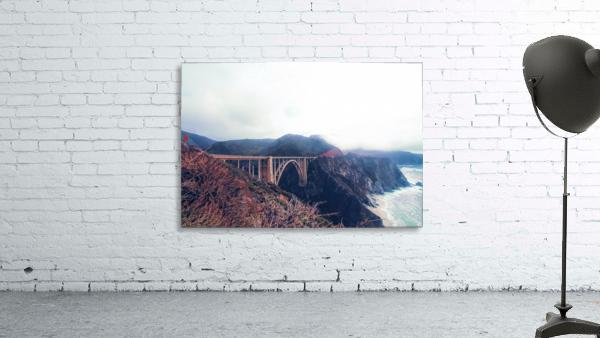 beautiful landscape at Bixby bridge, Big Sur, California, USA