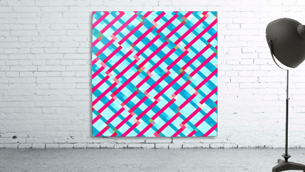geometric pixel square pattern abstract background in blue pink