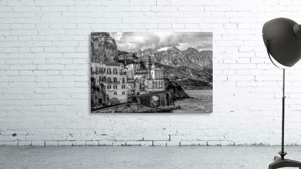 Black and White Landscape - Amalfi Coast - Italy