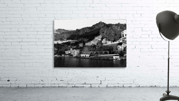 Amalfi Coast Black and White Landscape