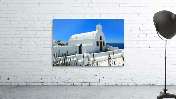 Small White Church in Santorini - Greece