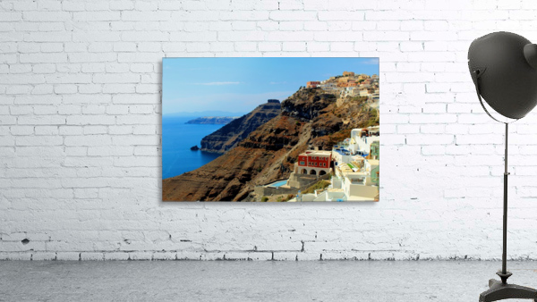 Santorini Mountains Landscape - Greece