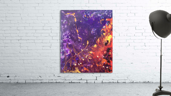 The Flow Purple and Orange Abstract