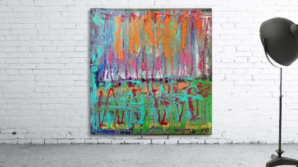 Three Ring Circus a Colorful Abstract Painting