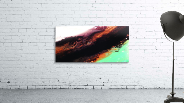 Agate Minimalist Abstract Canvas Painting Metal Artwork