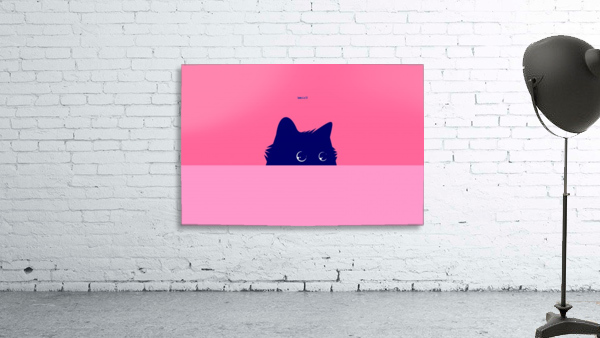 Cat on Deep Pink