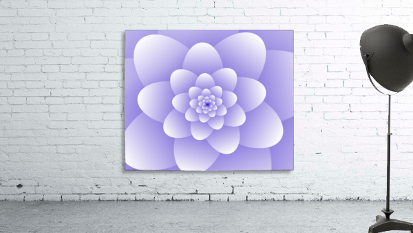 Purple Floral Spiral Artwork
