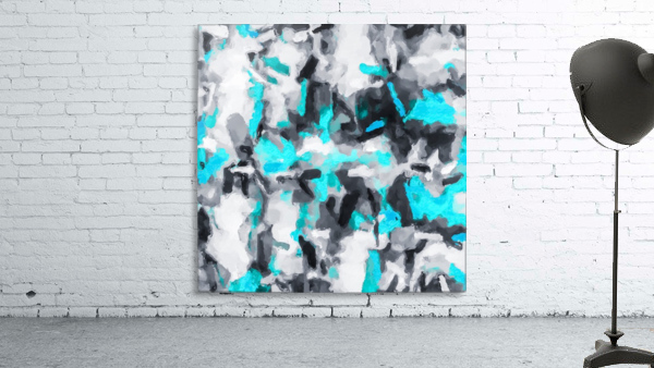 splash painting texture abstract background in blue and black