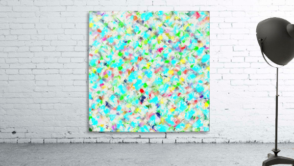splash painting texture abstract background in blue yellow green red pink