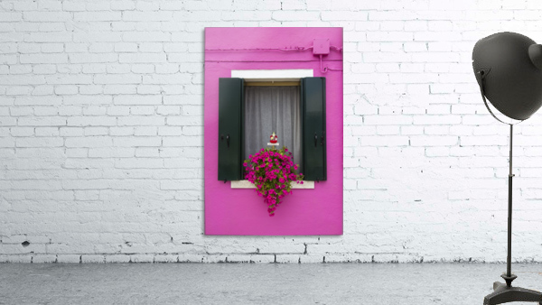 Colored window in Burano