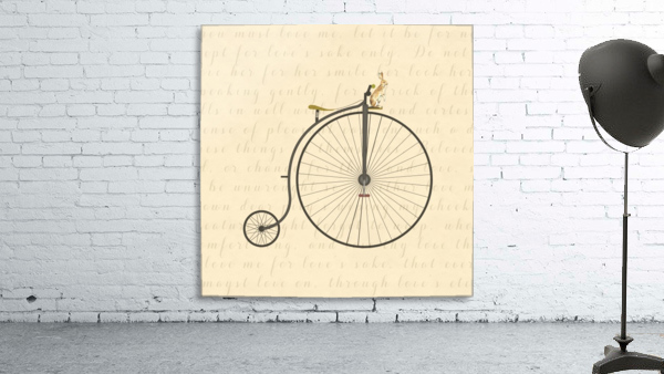 Vintage Penny Farthing Bunny