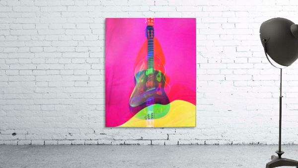 Guitar on Pink