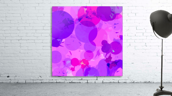 geometric circle and triangle pattern abstract in pink purple